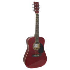 Blue Moon Mini Dreadnought Guitar - Red