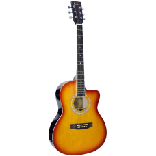 Blue Moon Small Body Guitar - Sunburst, Cutaway