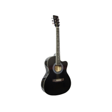 Blue Moon Small Body Guitar - Black Gloss, Cutaway